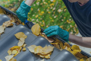 CLEANING GUTTER AND LEAF GUARD